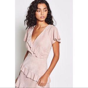 Joie Orita Suede Ruffle dress